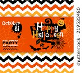 halloween background of... | Shutterstock .eps vector #219532480