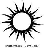 Black And White Sun For Tattoo