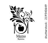 vegetarian menu. design... | Shutterstock .eps vector #219540649