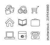 e commerce thin line icons set. ...