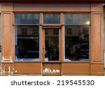old brown shop in paris with... | Shutterstock . vector #219545530