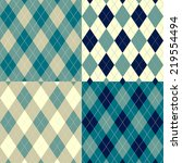 seamless argyle pattern.... | Shutterstock .eps vector #219554494