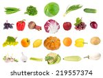 collage of fresh fruit and... | Shutterstock . vector #219557374