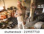 bhaktapur  nepal   dec 7  2013  ... | Shutterstock . vector #219557710
