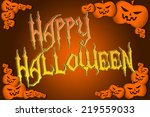 halloween background text | Shutterstock . vector #219559033