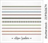 border decoration elements... | Shutterstock .eps vector #219563674