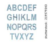 illustrate of stone alphabet | Shutterstock . vector #219579343