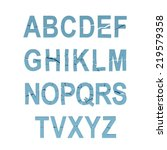 illustrate of stone alphabet | Shutterstock . vector #219579358