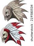 undead native american | Shutterstock .eps vector #219580534