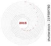 round simply vector calendar...   Shutterstock .eps vector #219589780