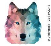 polygonal style illustration... | Shutterstock .eps vector #219592243