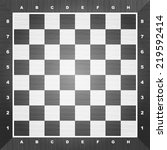 empty chess board. vector... | Shutterstock .eps vector #219592414