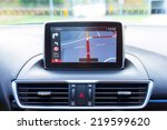 navigation device in the car | Shutterstock . vector #219599620