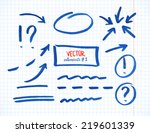 set of correction and highlight ... | Shutterstock .eps vector #219601339