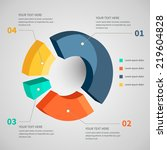 abstract pie chart graphic for... | Shutterstock .eps vector #219604828