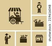 farmer market  | Shutterstock .eps vector #219616048