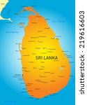 vector color map of sri lanka | Shutterstock .eps vector #219616603