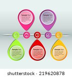 colorful modern text box time... | Shutterstock .eps vector #219620878