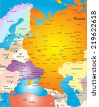 vector color west europe map | Shutterstock .eps vector #219622618