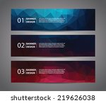 abstract banner with polygon... | Shutterstock .eps vector #219626038