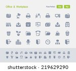 office   workplace icons.... | Shutterstock .eps vector #219629290