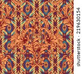 eclectic fabric seamless... | Shutterstock .eps vector #219630154