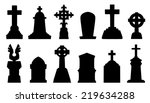Tombstone Silhouettes On The...