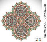 mandala. round ornament pattern.... | Shutterstock .eps vector #219636280