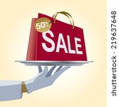 sale with percent discount | Shutterstock .eps vector #219637648