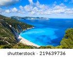 View Of Beautiful Myrtos Beach...