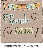 flash sale template with... | Shutterstock .eps vector #219647728