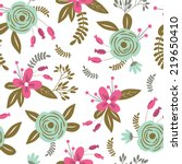 seamless pattern with cute... | Shutterstock .eps vector #219650410