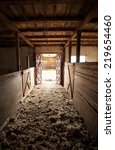 horse stable from the inside. | Shutterstock . vector #219654460