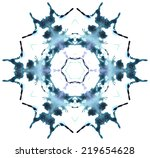 beautiful vector snowflake made ... | Shutterstock .eps vector #219654628