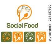 social food illustration and... | Shutterstock .eps vector #219657910