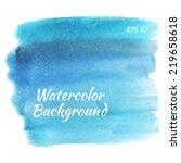 beautiful watercolor design... | Shutterstock .eps vector #219658618