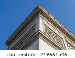 corner of the arc of triumph in ... | Shutterstock . vector #219661546