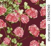 clover seamless pattern | Shutterstock . vector #219662560