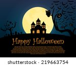 happy_halloween_background | Shutterstock .eps vector #219663754