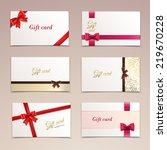 gift cardboard paper cards set... | Shutterstock . vector #219670228