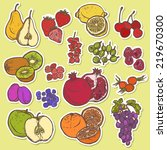 natural organic fruits and... | Shutterstock . vector #219670300