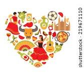 decorative spain cultural... | Shutterstock . vector #219671110