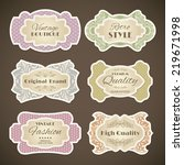 decorative vintage fashion high ... | Shutterstock . vector #219671998