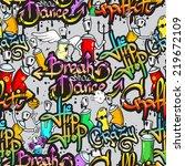 graffiti spray paint street art ... | Shutterstock . vector #219672109