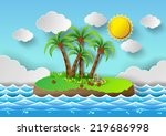 vector illustration tropical... | Shutterstock .eps vector #219686998