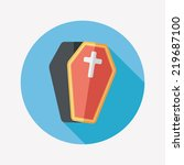 coffin falt icon with long... | Shutterstock .eps vector #219687100