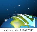 illustration of the earth's... | Shutterstock .eps vector #219692338