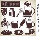 coffee and bakery | Shutterstock .eps vector #219693094