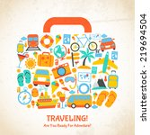 travel holiday vacation... | Shutterstock . vector #219694504