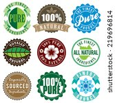 set of vector vintage labels... | Shutterstock .eps vector #219696814